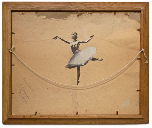 unconsumption:  What a beautiful example of reuse.  Ballerina by Banksy.