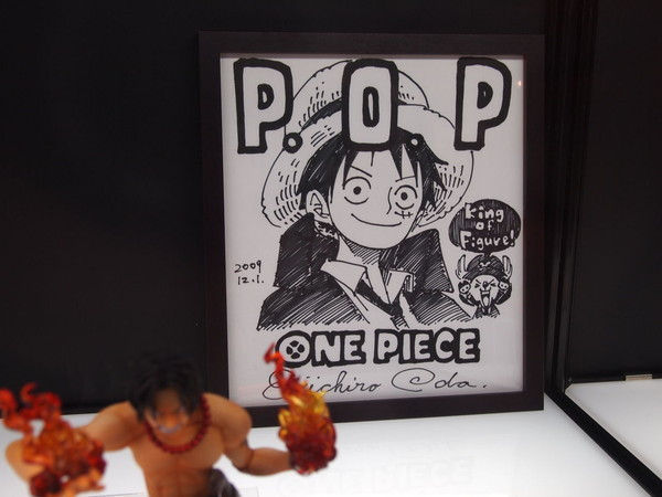 animeaddicted-figures:  Eiichiro Oda's Drawing for Megahouse's P.O.P line - Megahobby Expo