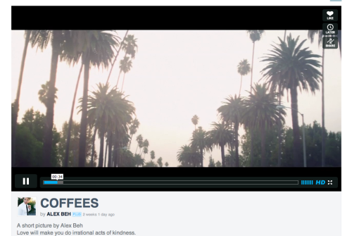 Vimeo - When clicking play, the site will scroll up to fit the video in the browser window. /via Alan