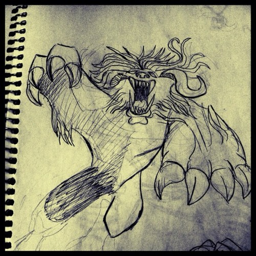 Monster #sketch #dibujo #draw #drawing #illustration #illustrator #ilustración #hgsantarriaga  #art #artwork #artprocess #wip #process #pencils #boceto #trazo #ink #sharpie