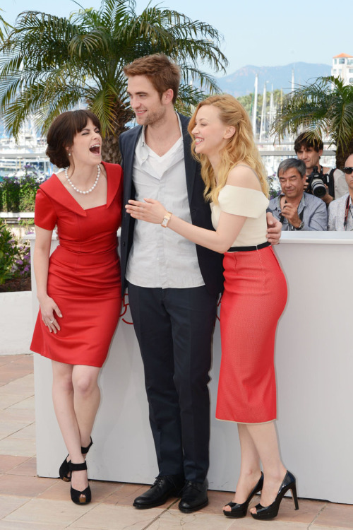 Emily Hampshire, Robert Pattinson and Sarah Gadon | 'Cosmopolis' photocall during the 65th Annual Cannes Film Festival - May 25, 2012