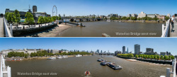 it was another beautiful day in our London today. 1 bridge, 2 panoramas from both sides… Waterloo Bridge