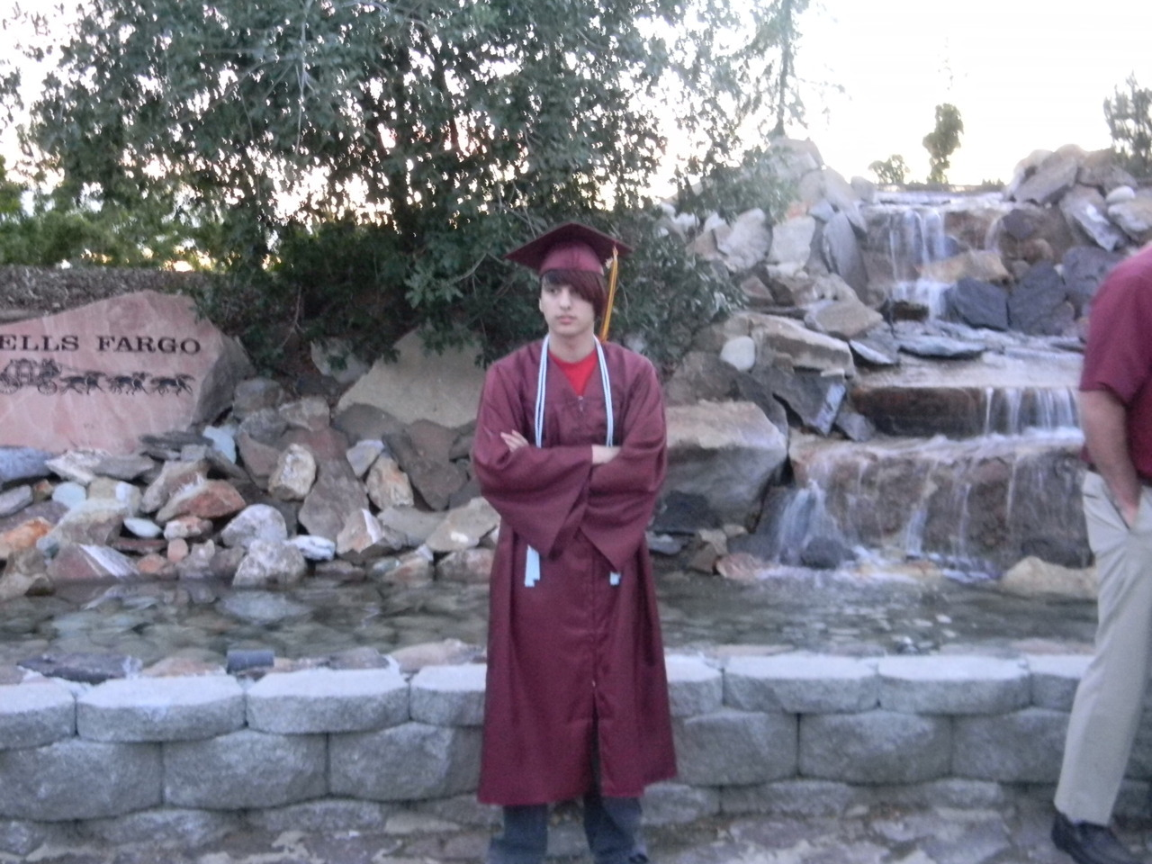 Hey guys! My baby brother graduated high school! Let's give this guy a round of applause via internet tubes.