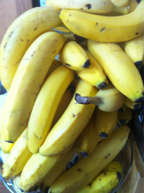 My banana stash today x