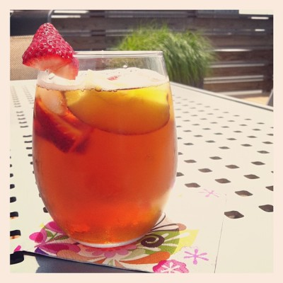 Pimm's on the roof