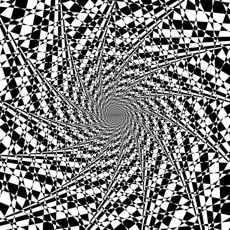 800x800 Mathematica code: Graphics[ GraphicsComplex[  Table[   {-.99^n*Sin[n*3.87], .99^n*Cos[n*3.87]}, {n, 0, 640}],  Polygon[Table[i, {i, 1, 640, 1}]]],  PlotRange -> .25, ImageSize -> 800]