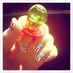 #ringpop #candy #ring #hands #nails #nailart #USA #DIY  (Taken with instagram)