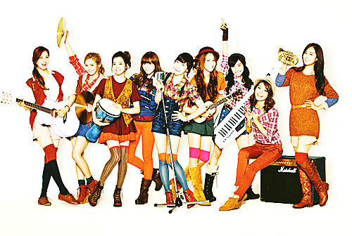 50/50 pictures of Girls' Generation