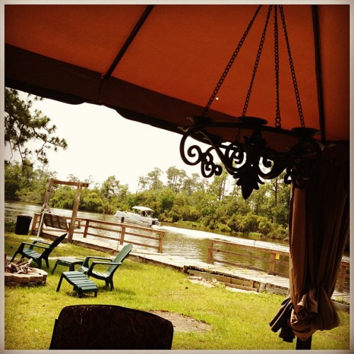 I'm writing in a tent on the Bayou today. #literarylife (Taken with instagram)