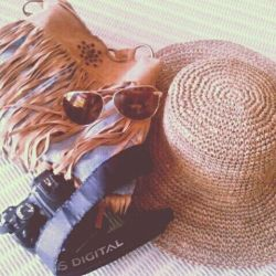 Weekend essentials #straw #hat #fringe #sunglasses #aviators #boho This week on sorelleinstyle.blogspot.com (Taken with Pose)