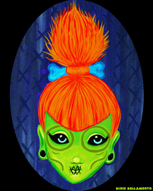 """Shrunken Red-Head"" by Dixie Dellamorto & Mr. Lobo"