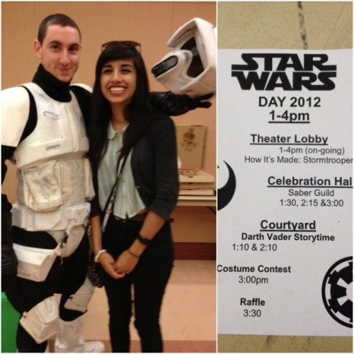 #starwars #starwarsday came with Andrew and Danica(: (Taken with instagram)