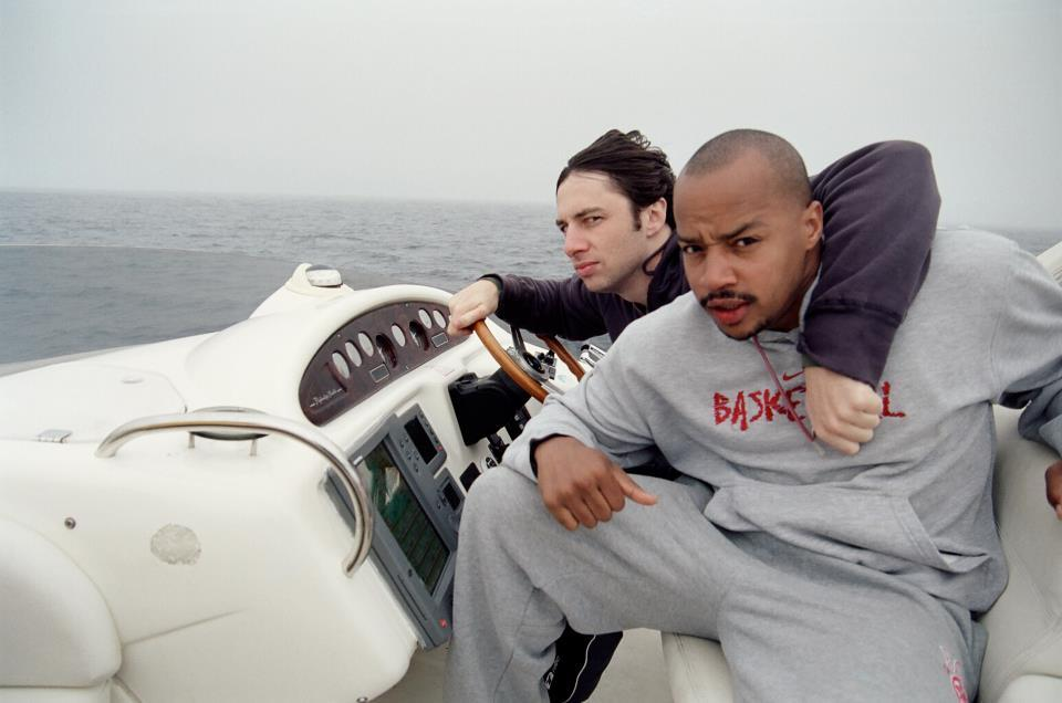 "zuckerbergin:  congrats to zach braff and donald faison for having literally the perfect friendship      OG Troy and Abed.   I miss Scrubs.   Aside: Thank God I caught autocorrect before I hit send on ""I miss ass rubs"""