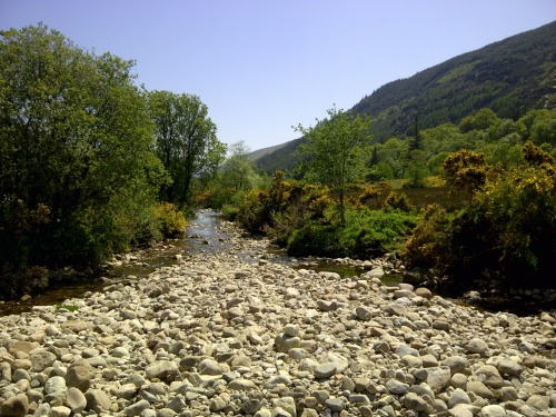 The river running through Glamalure valley