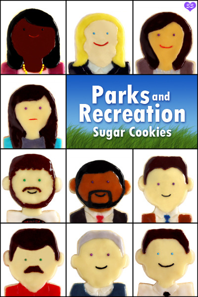 gastrogirl:  'parks and recreation' sugar cookies.