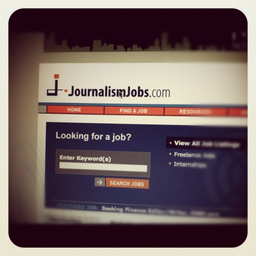 Ready, set, APPLY! House is clean, brother is fed, JournalismJobs.com is up and I'm ready to start applying!