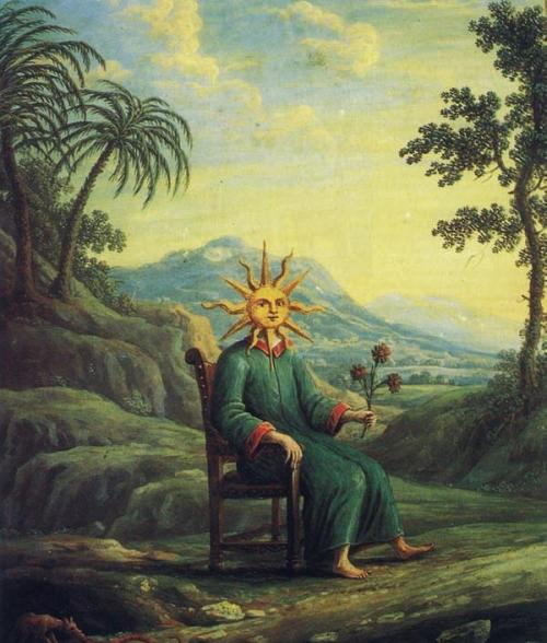 The alchemist who has achieved illumination. from Andrea de Pascalis, Alchemy: The Golden Art.