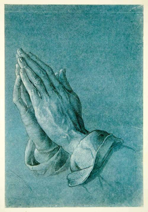 """Hands Joined in Prayer."", by Albrecht Dürer. print 1954 Painted in 1508"