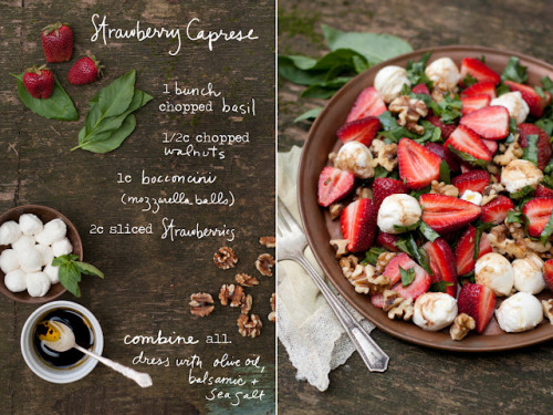 beautifulpicturesofhealthyfood:  Strawberries, Mozzarella, Walnuts, Basil, Balsamic Dressing…RECIPE