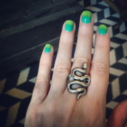 New ring. Totally works with the slime gradient.