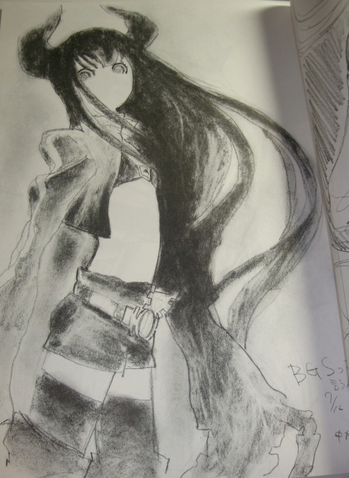 Black Rock Shooter illustration via @honnyaku_blog