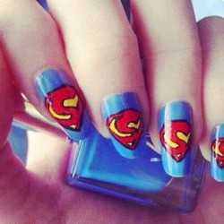 Really cool nails! #nail #nails #nailart #cool #creative #lovley #superman #swag #yellow #blie #red #black  (Taken with instagram)