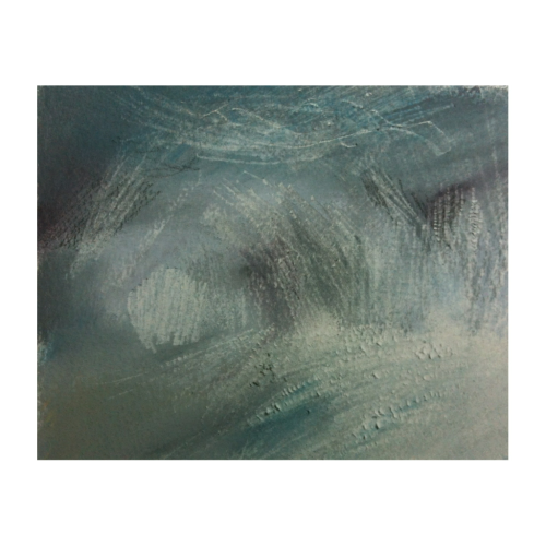 70// Storm after Turner, chalk & scalpel. Maša Kepic 2012.