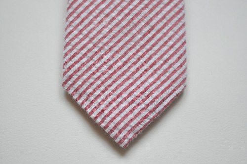 Red Striped Seersucker - $57