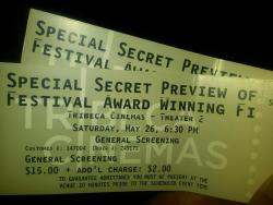 Special secret preview of Festival Award Winning Film @nyiff. No, don't ask what it is. If I tell you, they'll have to kill me. w/ @howtogive, @junecohen, @heyjudester and Jonathan.