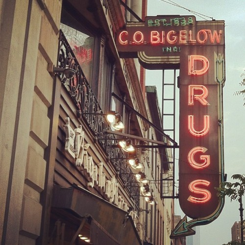 Bigelow Drugs. #neon #signage #type (Taken with instagram)