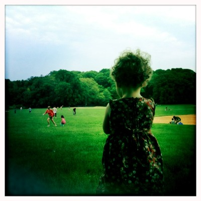 Miranda at Prospect Park today John S Lens, Blanko Film, No Flash, Taken with Hipstamatic