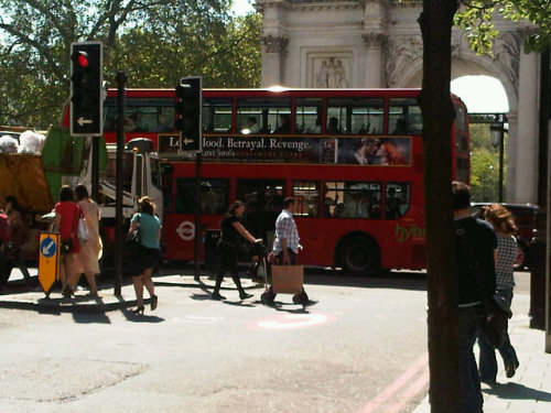City of Lost Souls on the side of a London bus!