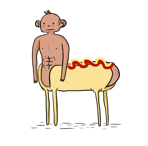 hot dog centaur. genius.