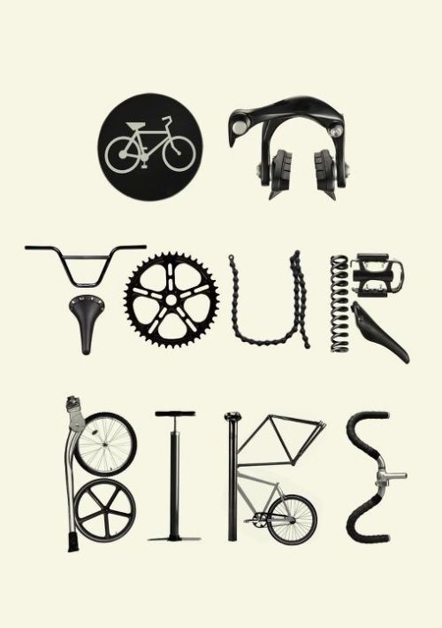 visualgraphic:   On Your Bike Submitted by menyminymo.tumblr.com