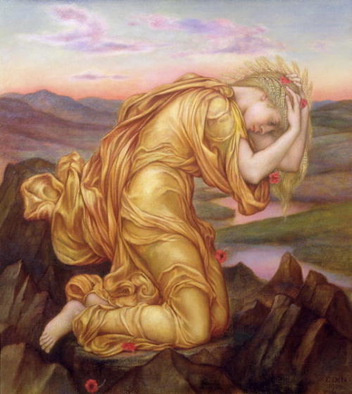 Demeter Mourning for Persephone  Evelyn de Morgan source: preraphaelitepaintings.blogspot.com