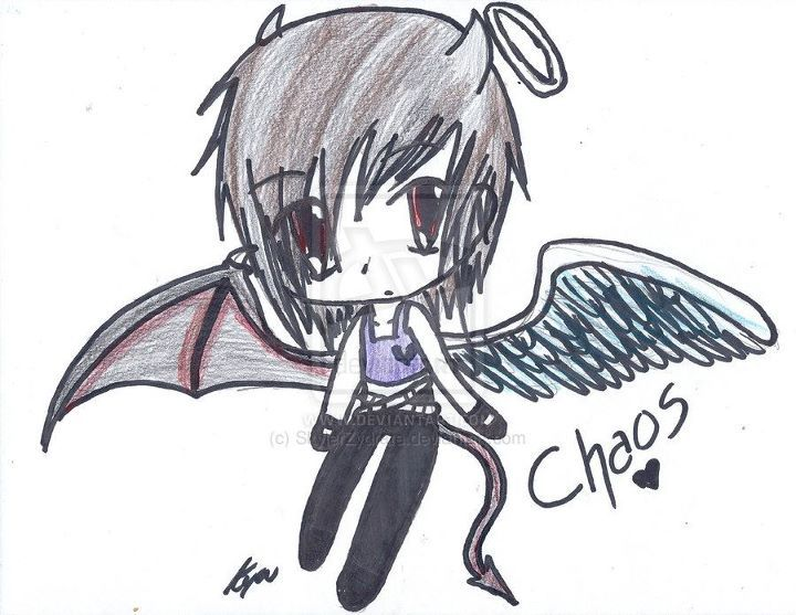 One of my OC's: Chaos  In chibi form :3  Watch me and my art on: skylerzydrate.deviantart.com