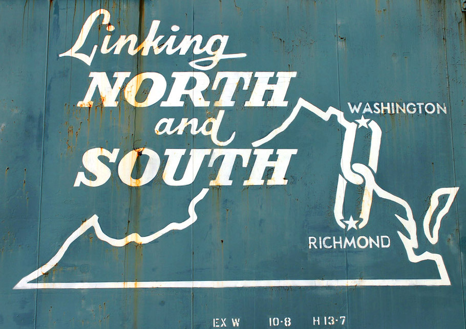 katylowdee:  Ancient Richmond Fredericksburg & Potomac Railroad boxcar.