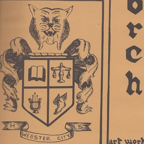 Found: My hometown high school's crest from the 70s. #handrawn #cats #lynx #goofy (Taken with instagram)