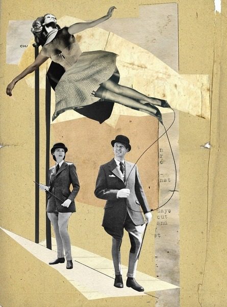 "thecollectivecollage:  ""Catwalk"" by Franz Falckenhaus"