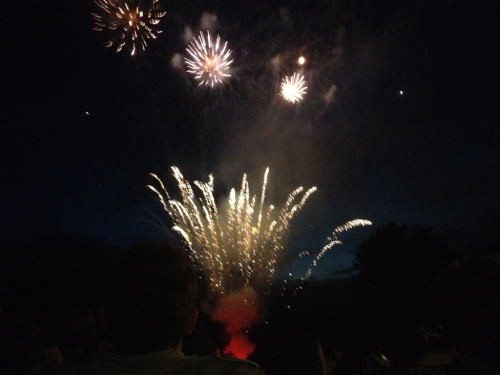 Fireworks!! My brother graduated!!