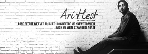 Ari Hest Strangers Again Quote Facebook Cover