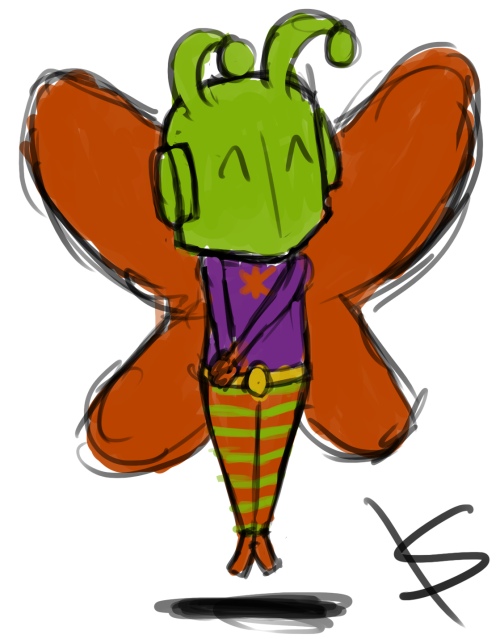k8y411:  Killer Moth has the most adorable, derpy way of flying.