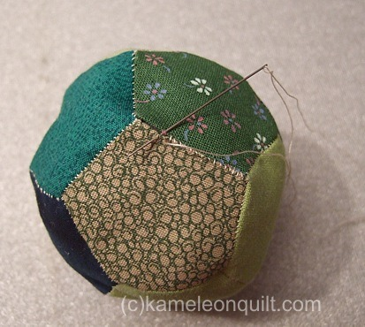 Patchwork Ball made of Pentagons