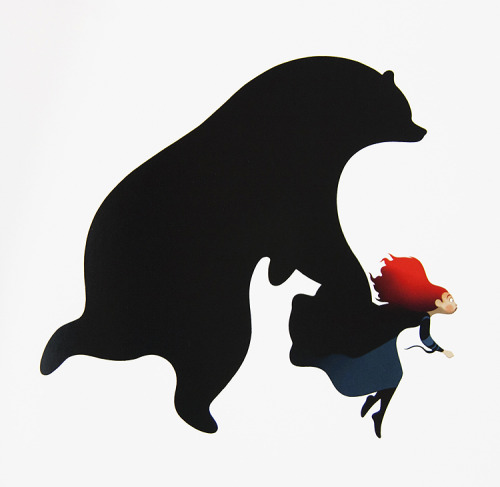 thepixargeek:  ▷ Brave (2012) concept art of Merida and the bear
