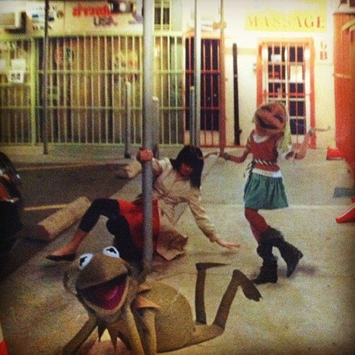 Found while moving: Me, age 23, dancing with muppets (Taken with instagram)