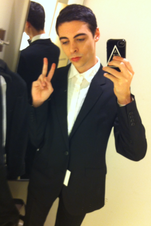 bought my suit for the wedding today ^___________^