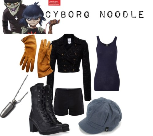 Cyborg Noodle by twinsrskary featuring lace up boots