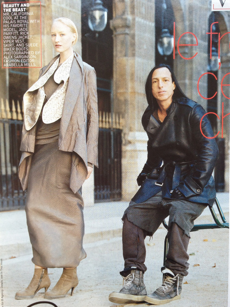 Profile of Rick Owens Magazine: Vogue US October 2002Photographer: Alex SarginsonModel: Jade Parfitt