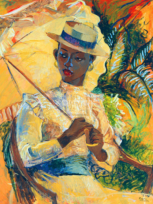 antanlontan:   Boater Hat With Parasol, Boscoe Holder