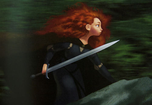 thepixargeek:  ▷ Brave (2012) concept art of Merida by Steve Pilcher